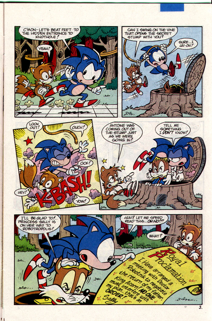 Sonic - Archie Adventure Series March 1993 Page 3