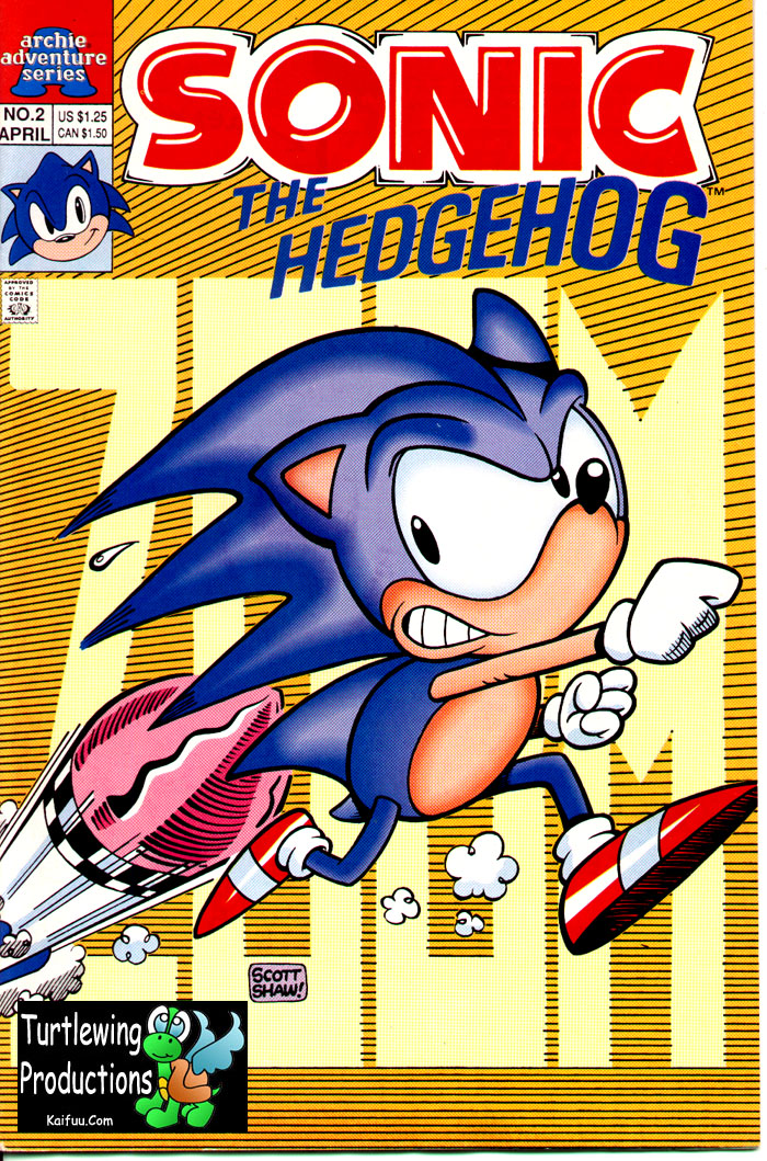 Sonic - Archie Adventure Series April 1993 Comic cover page
