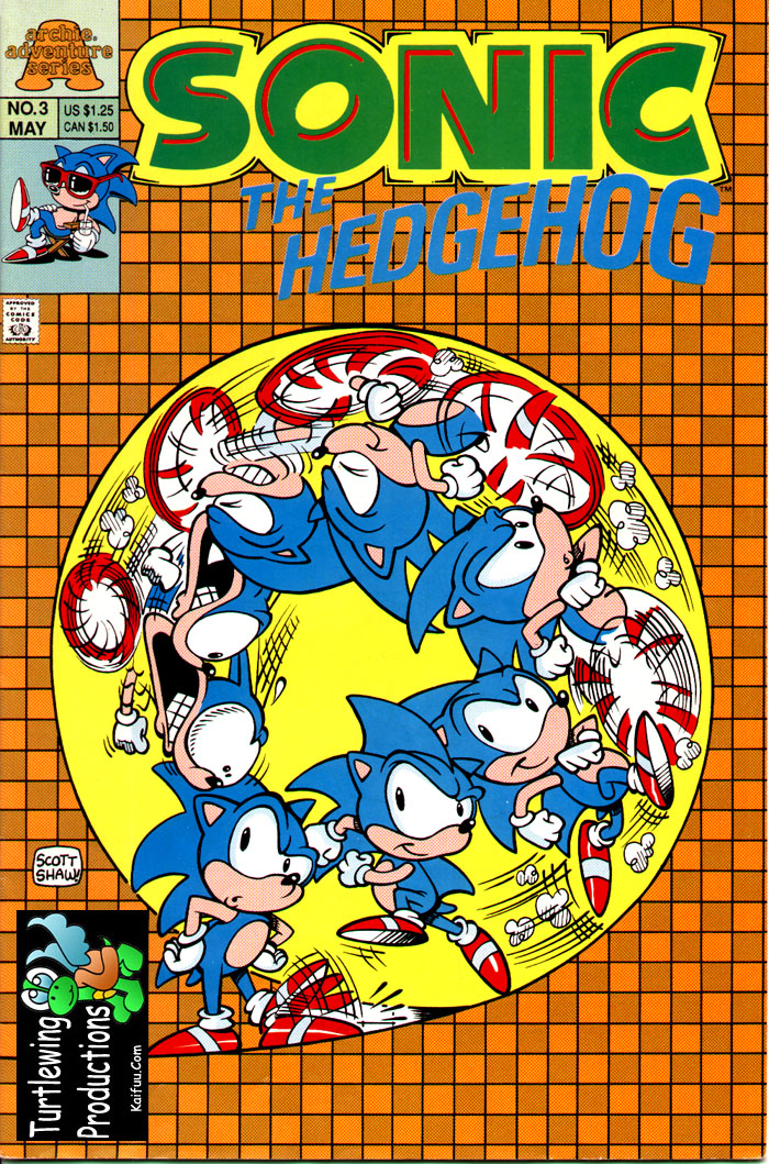 Sonic - Archie Adventure Series May 1993 Comic cover page