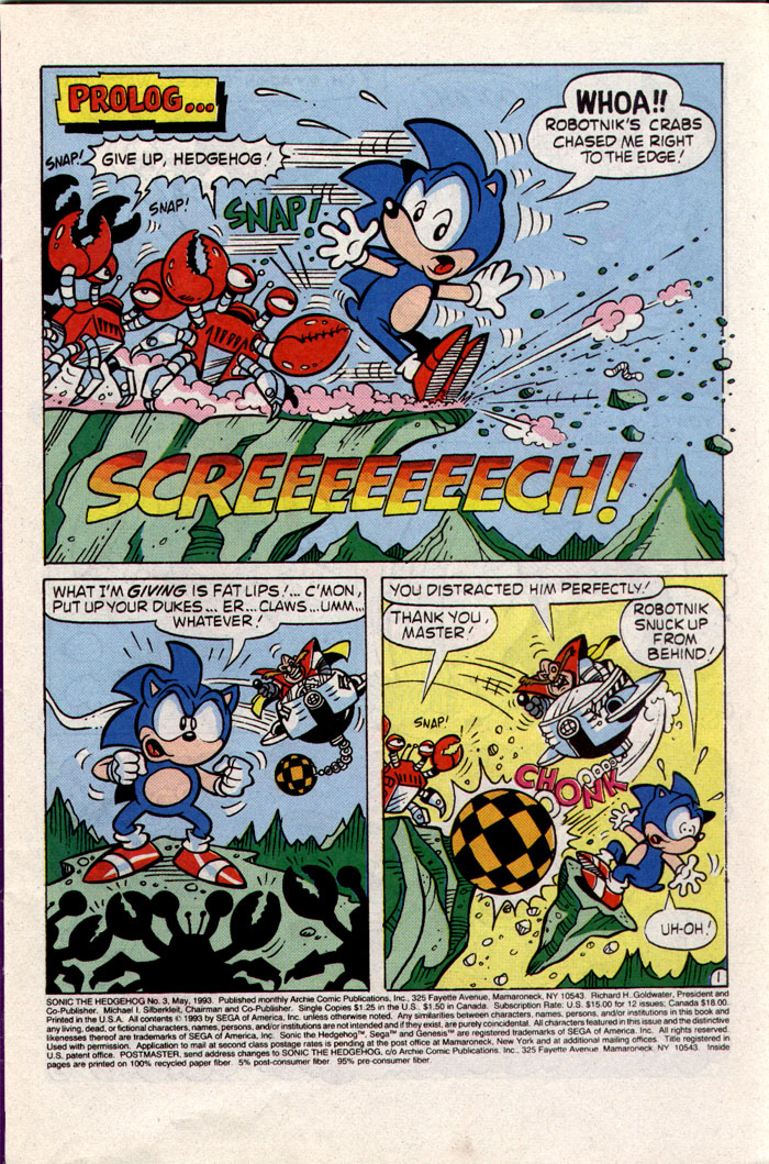 Sonic - Archie Adventure Series May 1993 Page 1
