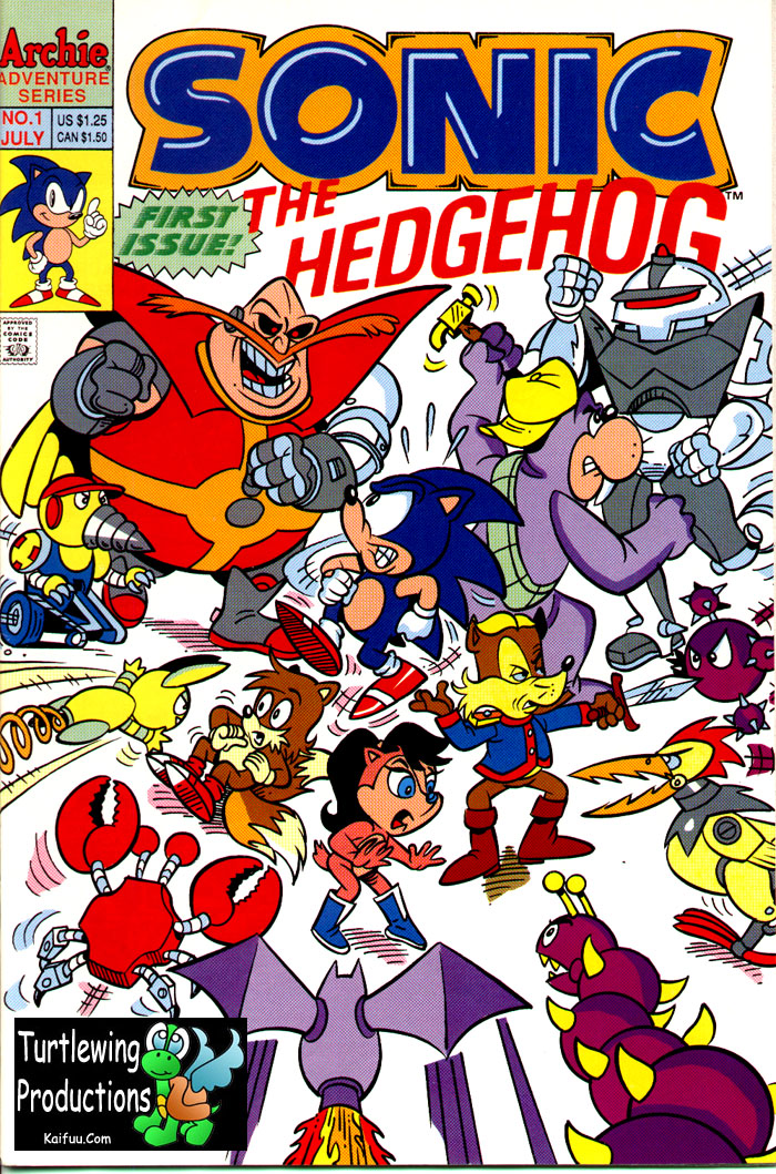 Sonic - Archie Adventure Series July 1993 Comic cover page