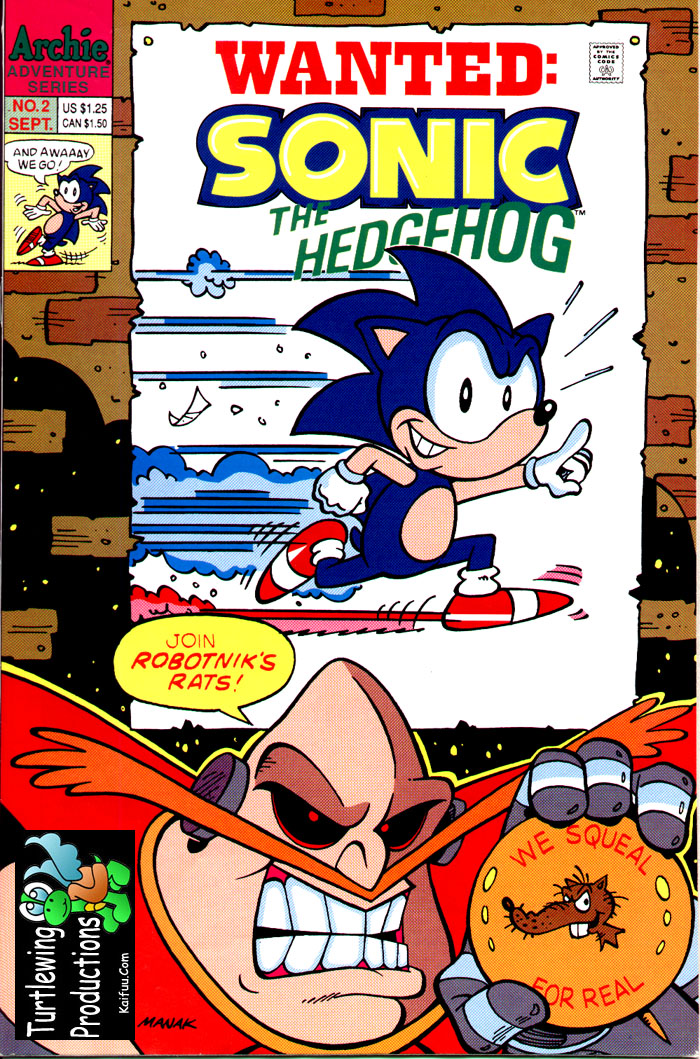 Sonic - Archie Adventure Series September 1993 Comic cover page