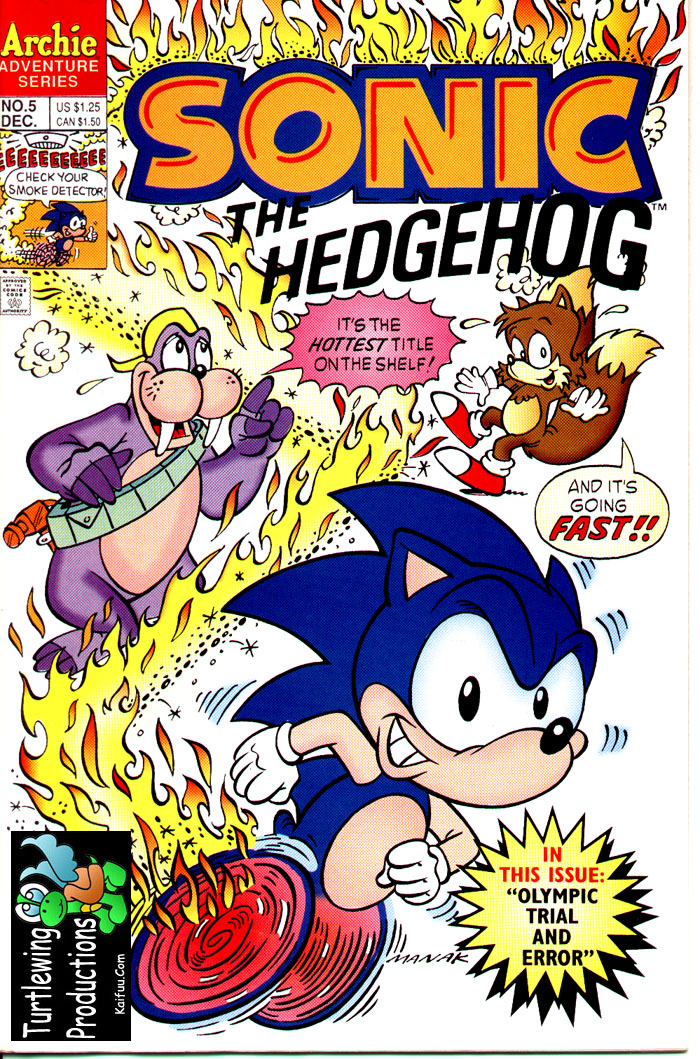 Sonic - Archie Adventure Series December 1993 Cover Page