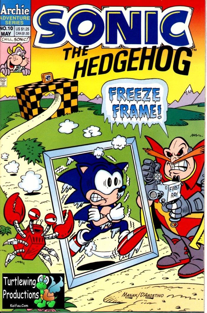 Sonic - Archie Adventure Series May 1994 Comic cover page