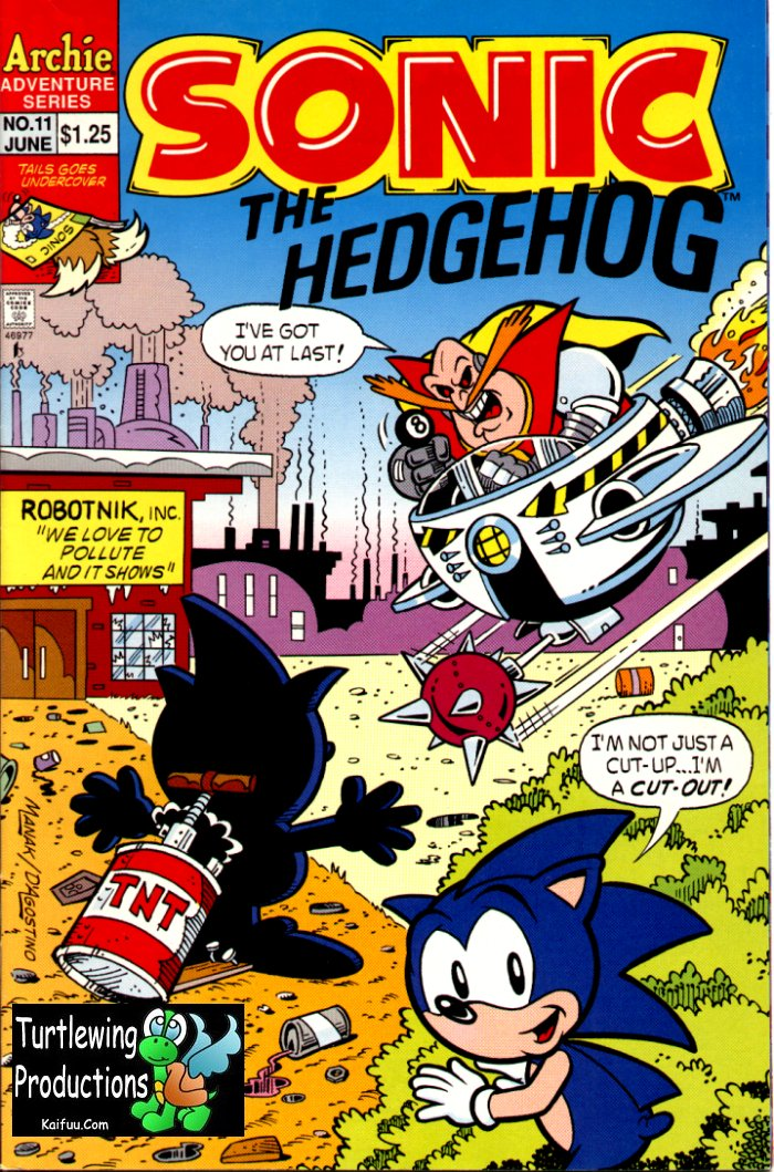 Sonic - Archie Adventure Series June 1994 Comic cover page