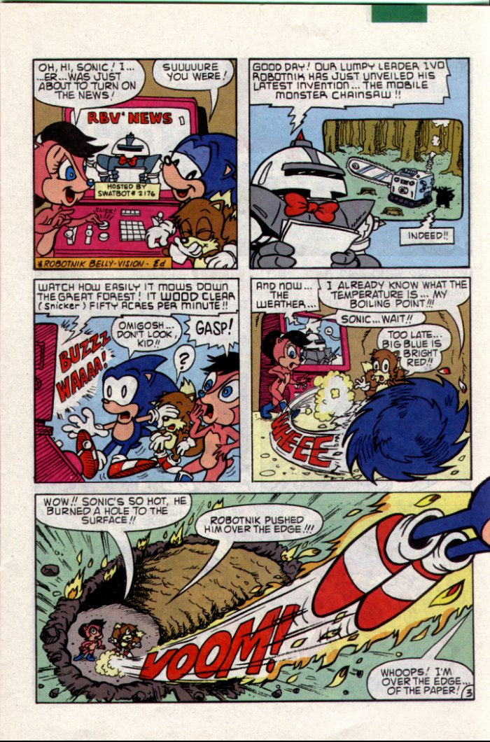 Sonic - Archie Adventure Series July 1994 Page 3