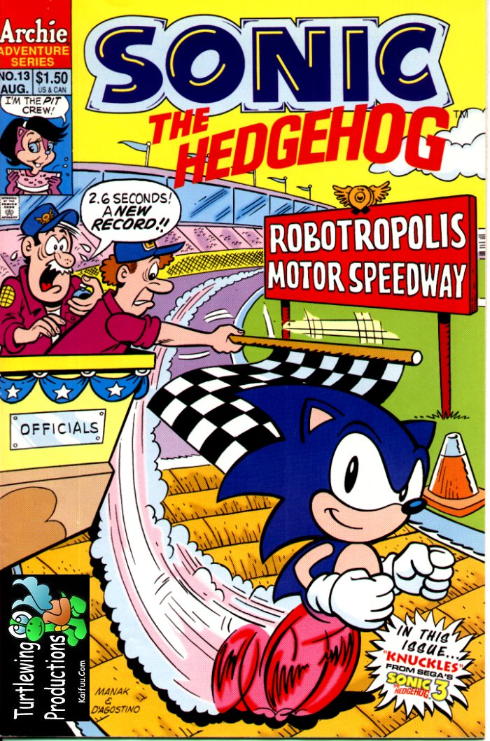 Sonic - Archie Adventure Series August 1994 Comic cover page
