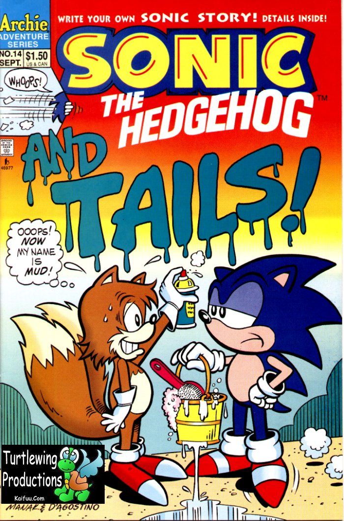 Sonic - Archie Adventure Series September 1994 Comic cover page