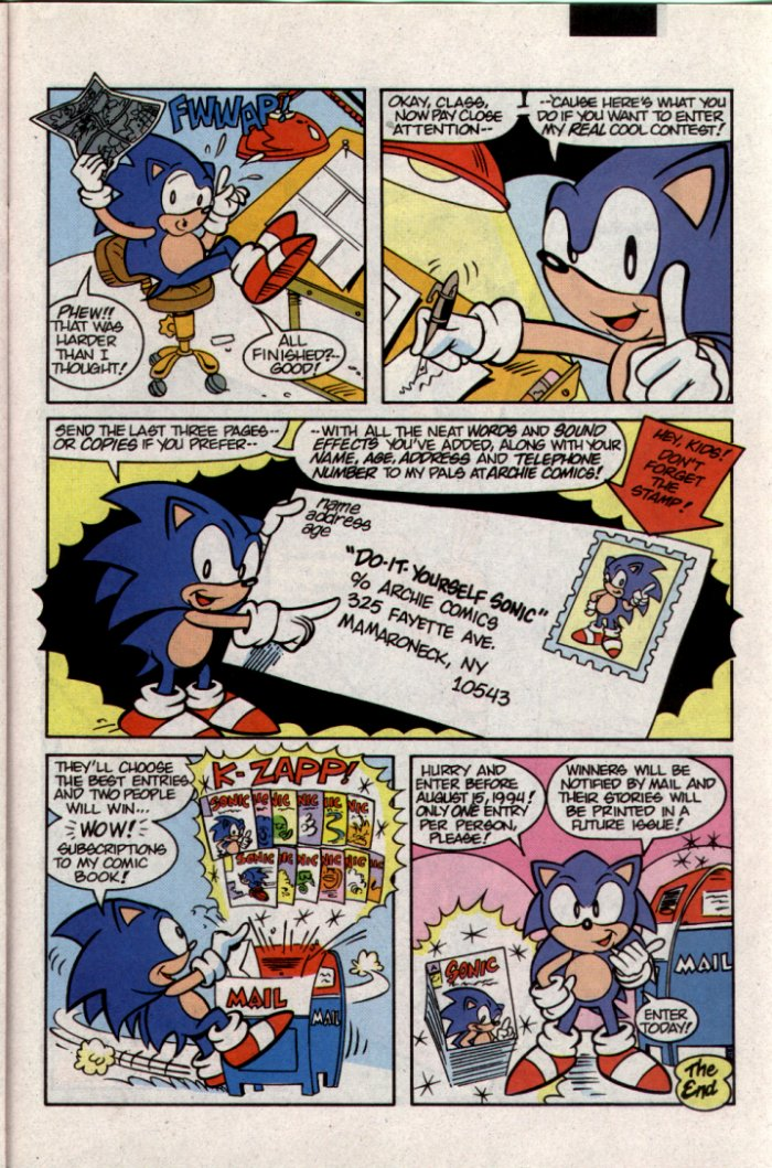 Sonic - Archie Adventure Series September 1994 Page 19