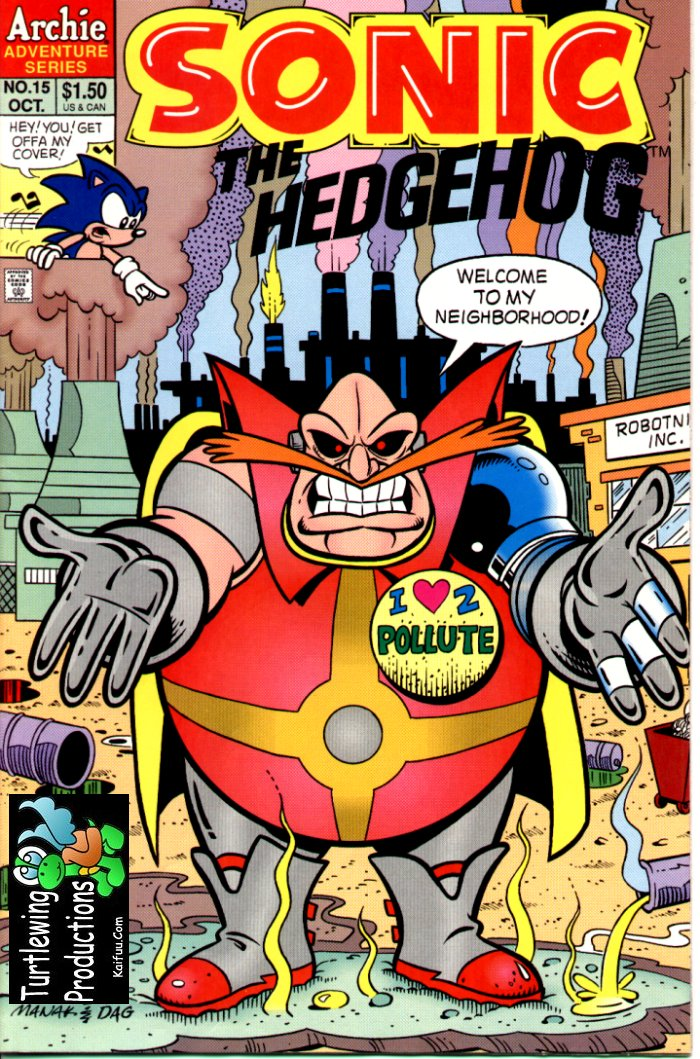 Sonic - Archie Adventure Series October 1994 Comic cover page