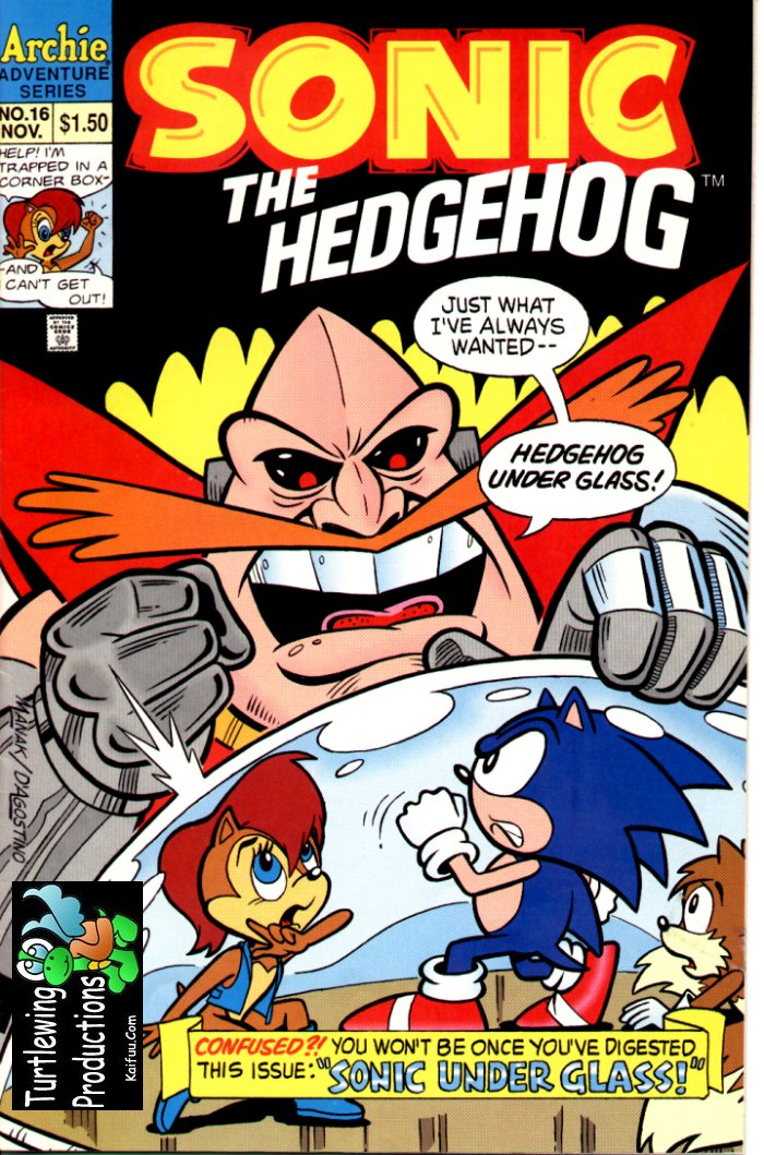 Sonic - Archie Adventure Series November 1994 Comic cover page