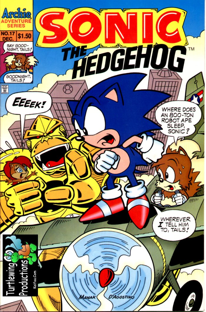 Sonic - Archie Adventure Series December 1994 Comic cover page
