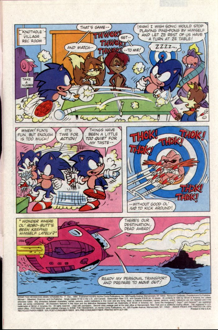 Sonic - Archie Adventure Series December 1994 Page 1