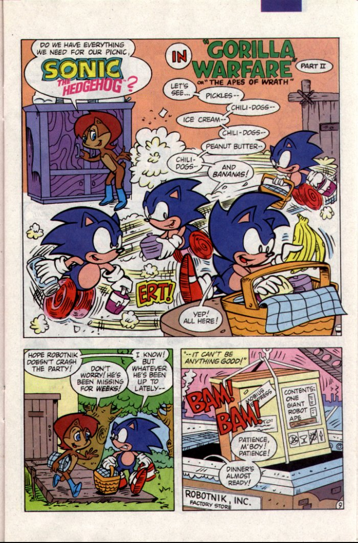 Sonic - Archie Adventure Series December 1994 Page 9