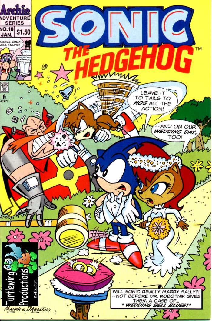 Sonic - Archie Adventure Series January 1995 Cover Page