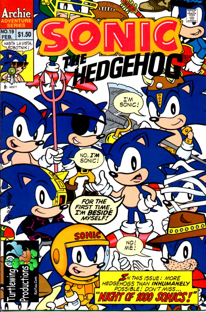 Sonic - Archie Adventure Series February 1995 Comic cover page