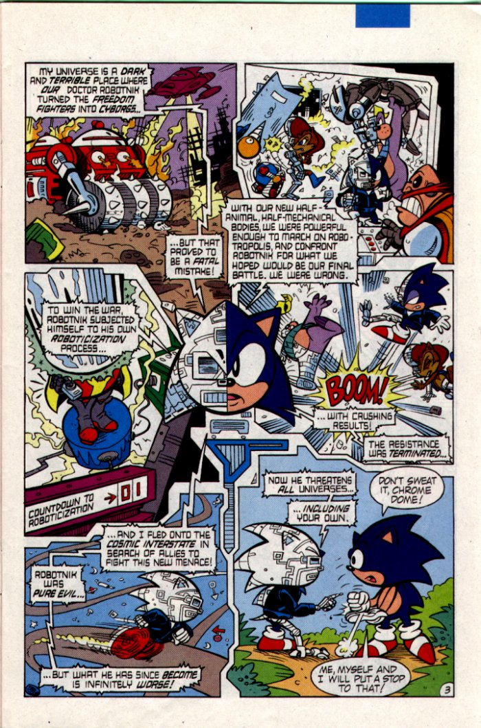 Sonic - Archie Adventure Series February 1995 Page 3