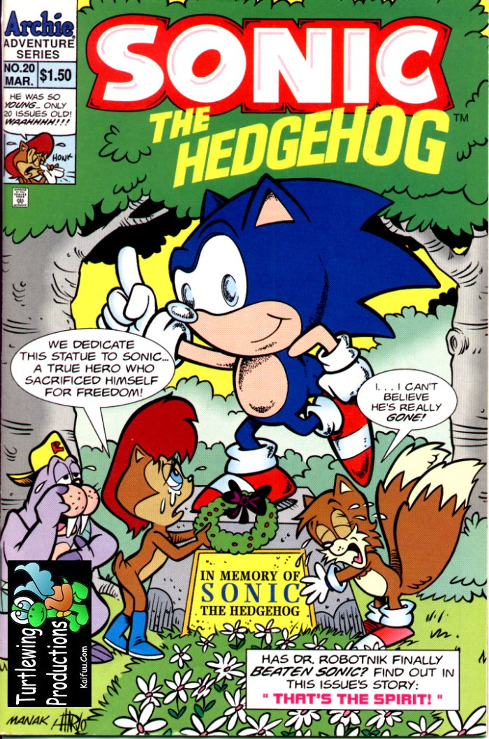 Sonic - Archie Adventure Series March 1995 Comic cover page