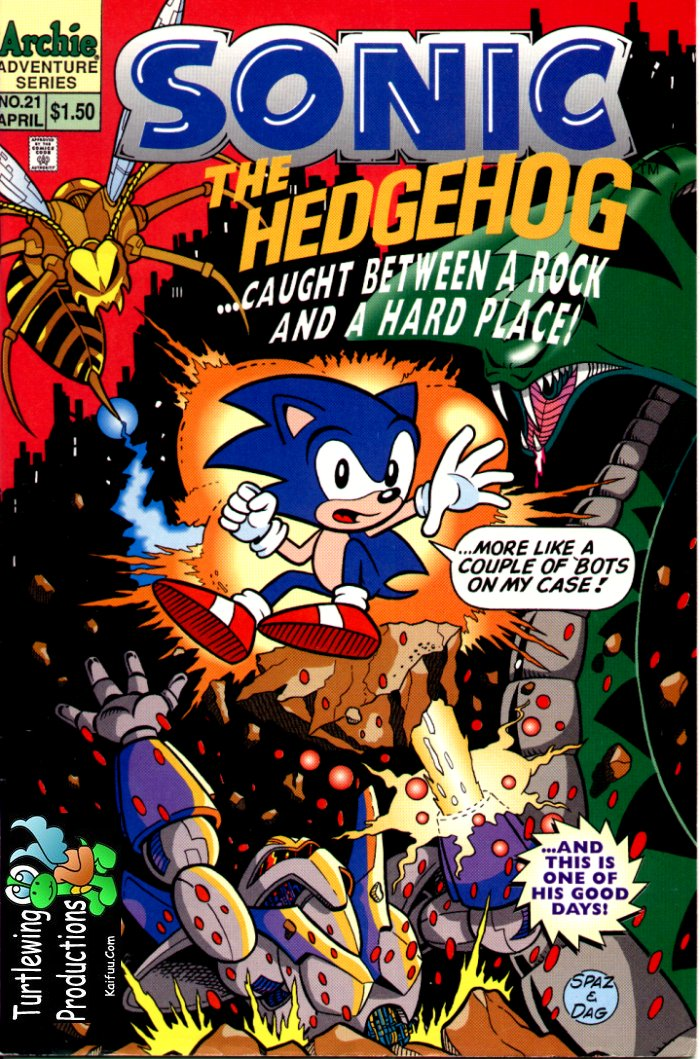 Sonic - Archie Adventure Series April 1995 Comic cover page