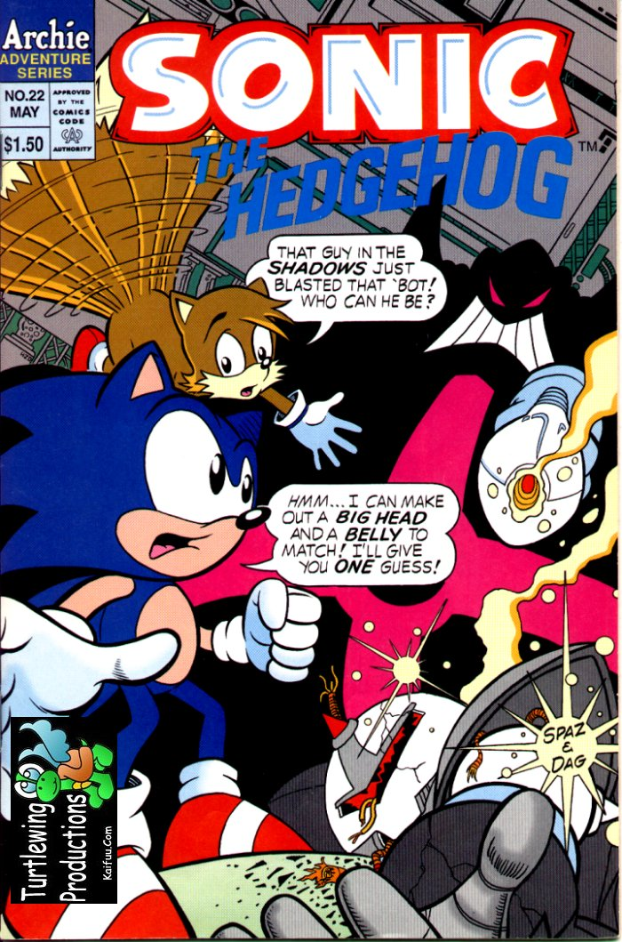 Sonic - Archie Adventure Series May 1995 Comic cover page