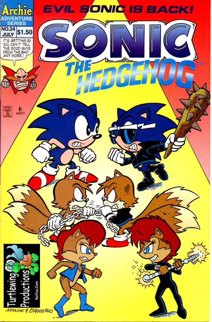 Sonic - Archie Adventure Series July 1995 Comic cover page