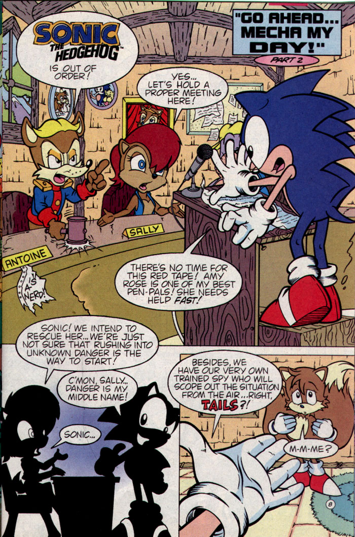 Sonic - Archie Adventure Series August 1995 Page 8