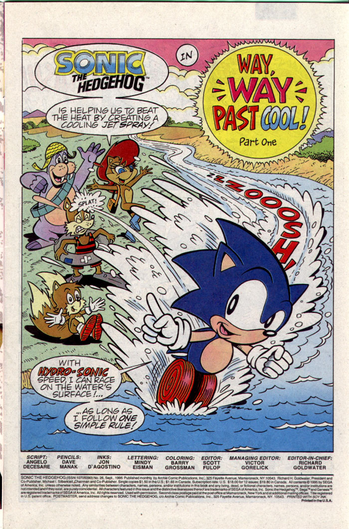 Sonic - Archie Adventure Series September 1995 Page 1