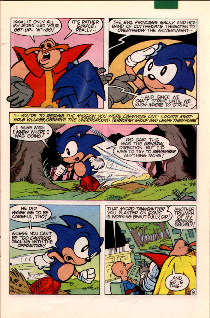 Sonic - Archie Adventure Series October 1995 Page 8