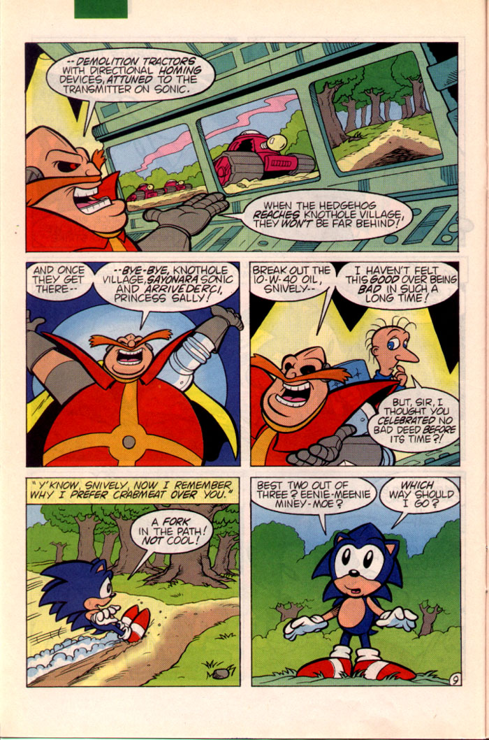 Sonic - Archie Adventure Series October 1995 Page 9