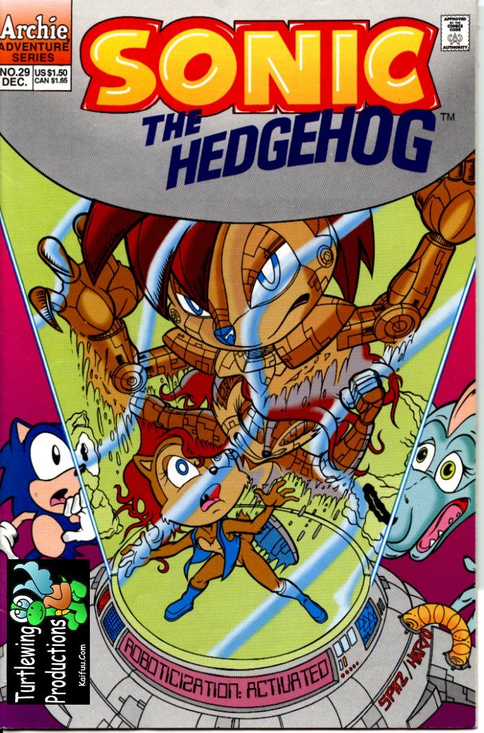 Sonic - Archie Adventure Series December 1995 Comic cover page