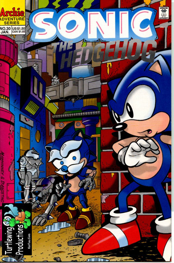 Sonic - Archie Adventure Series January 1996 Comic cover page