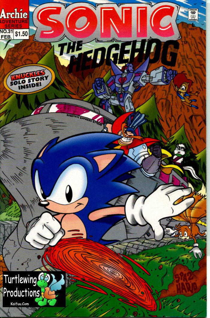 Sonic - Archie Adventure Series February 1996 Comic cover page
