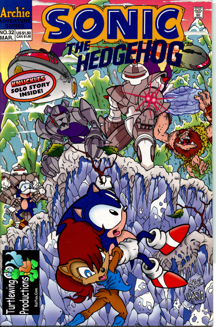 Sonic - Archie Adventure Series March 1996 Cover Page