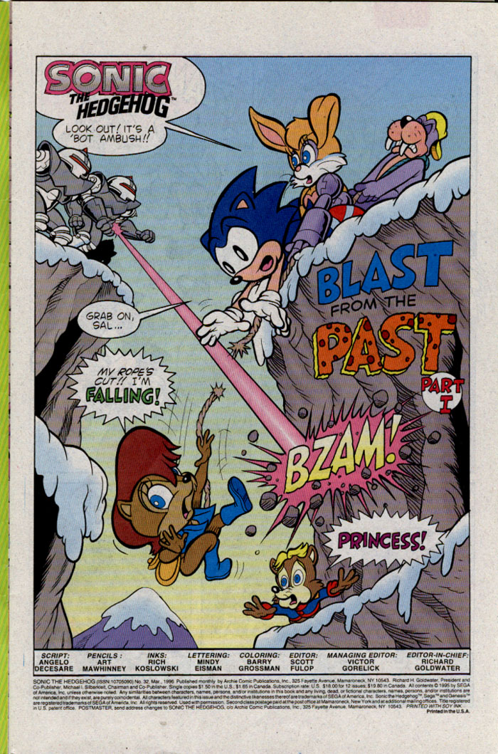 Sonic - Archie Adventure Series March 1996 Page 1