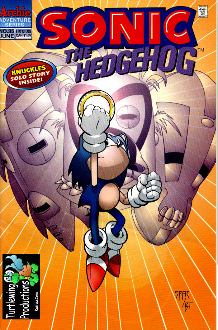 Sonic - Archie Adventure Series June 1996 Cover Page