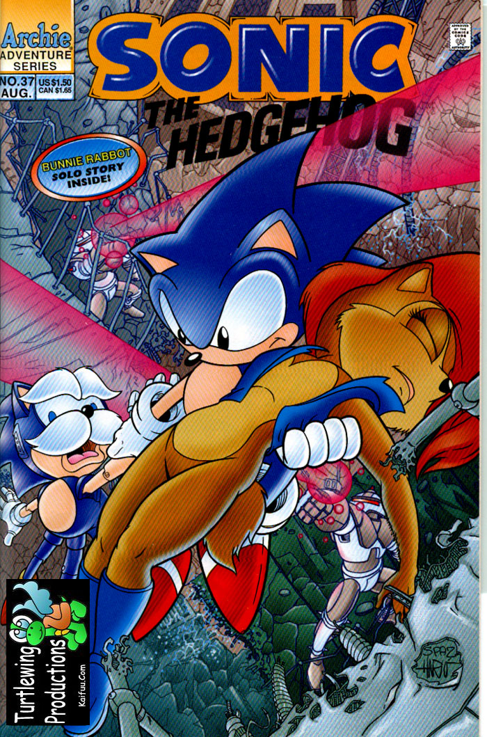 Sonic - Archie Adventure Series August 1996 Comic cover page