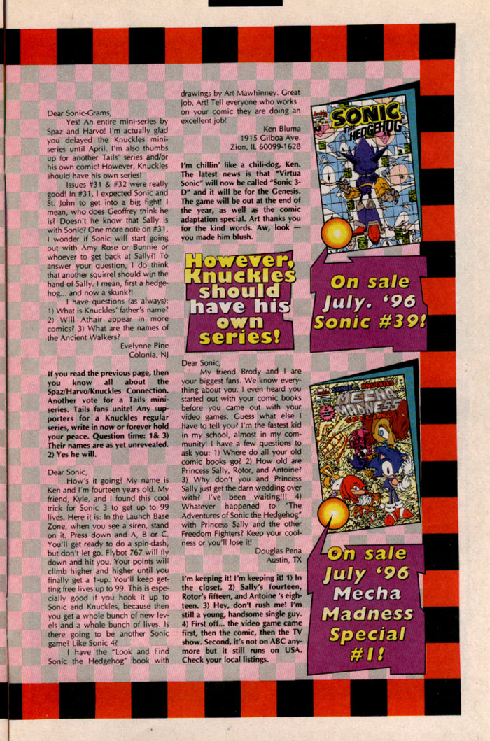 Sonic - Archie Adventure Series September 1996 Page 27