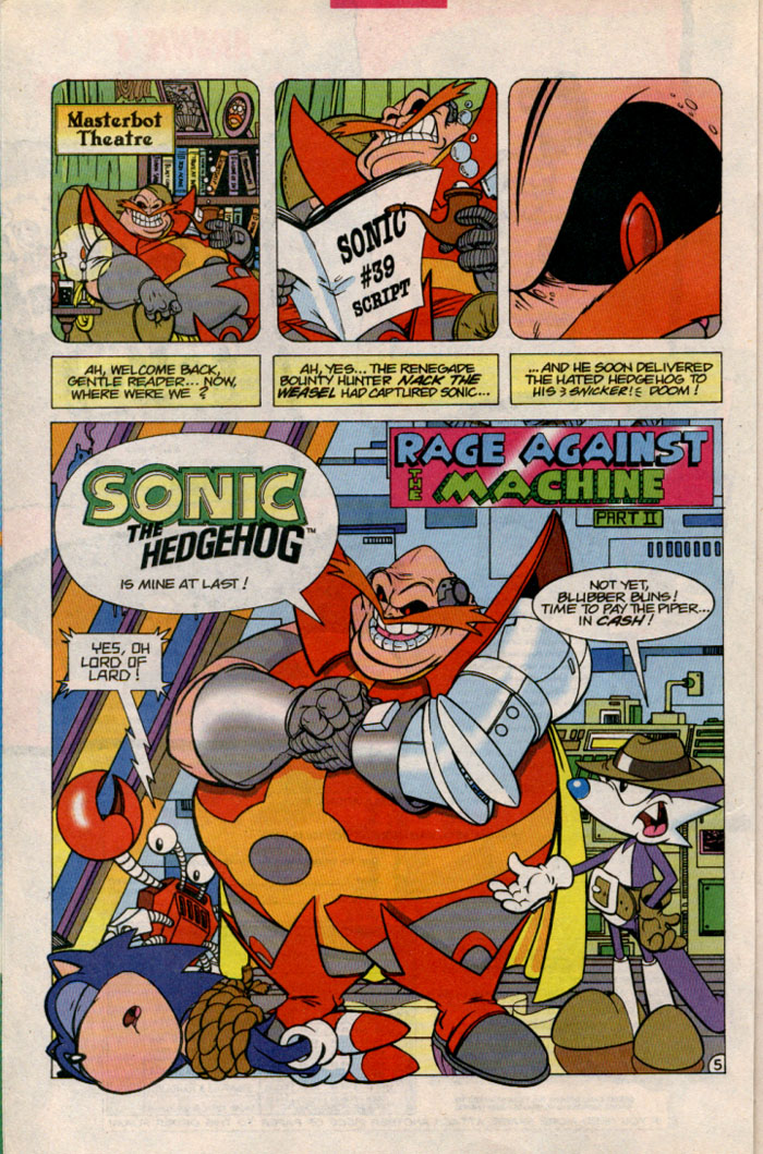 Sonic - Archie Adventure Series October 1996 Page 5