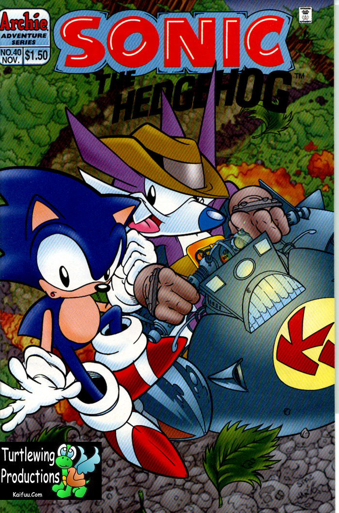 Sonic - Archie Adventure Series November 1996 Cover Page