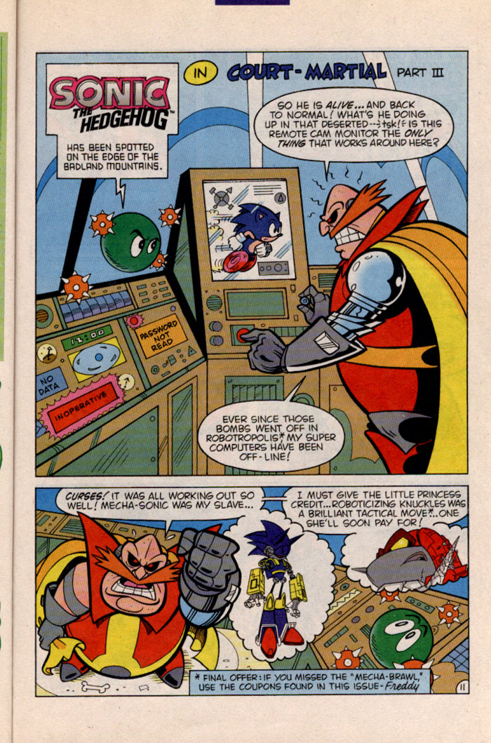 Sonic - Archie Adventure Series November 1996 Page 13
