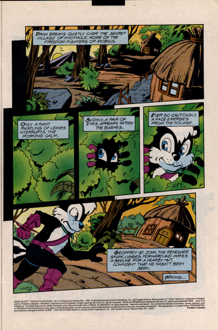 Sonic - Archie Adventure Series December 1996 Page 3
