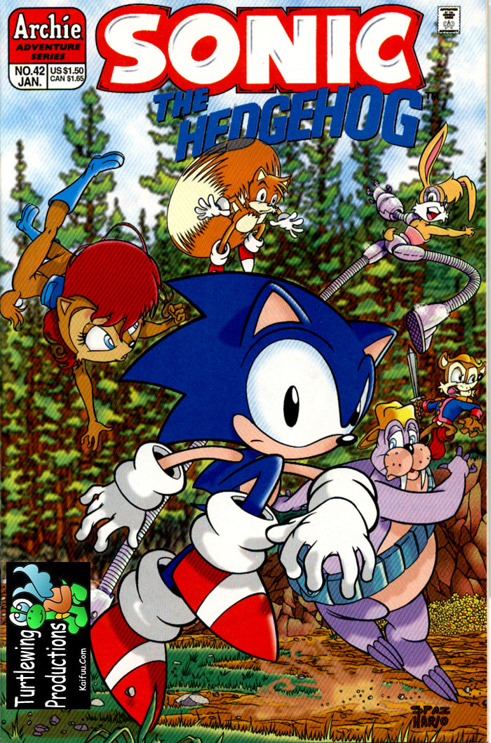 Sonic - Archie Adventure Series January 1997 Comic cover page