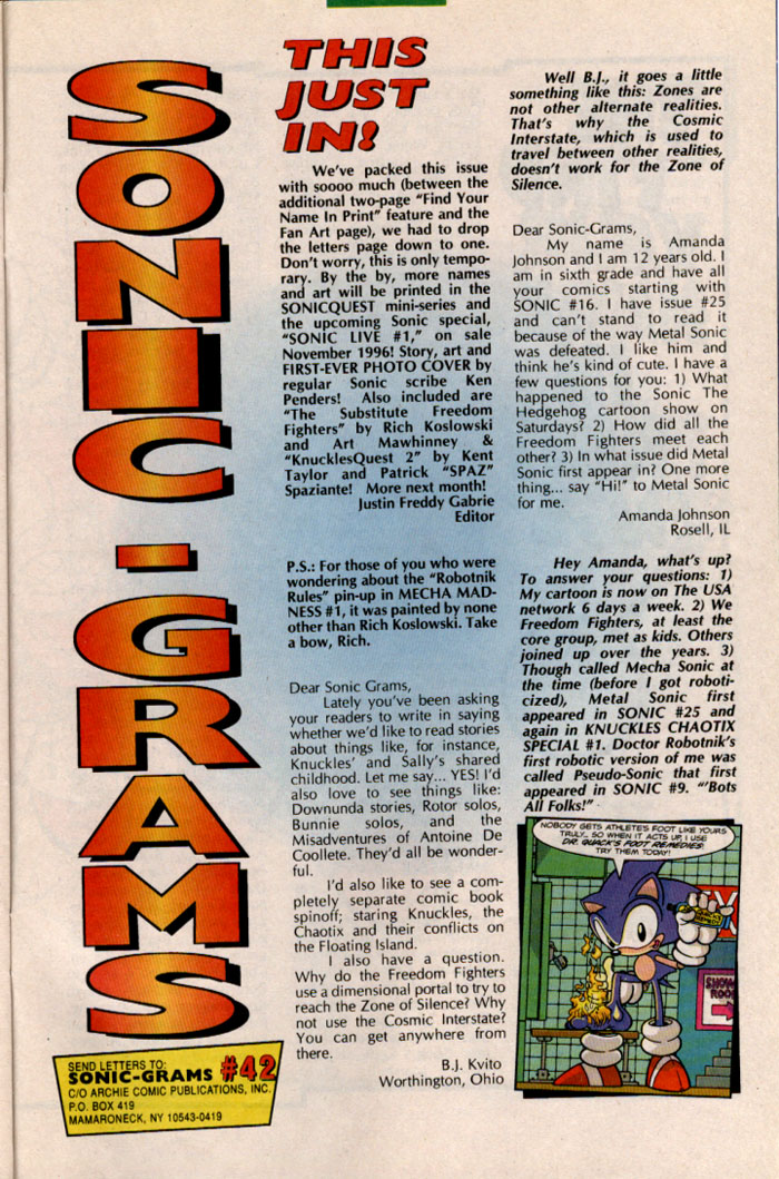 Sonic - Archie Adventure Series January 1997 Page 26