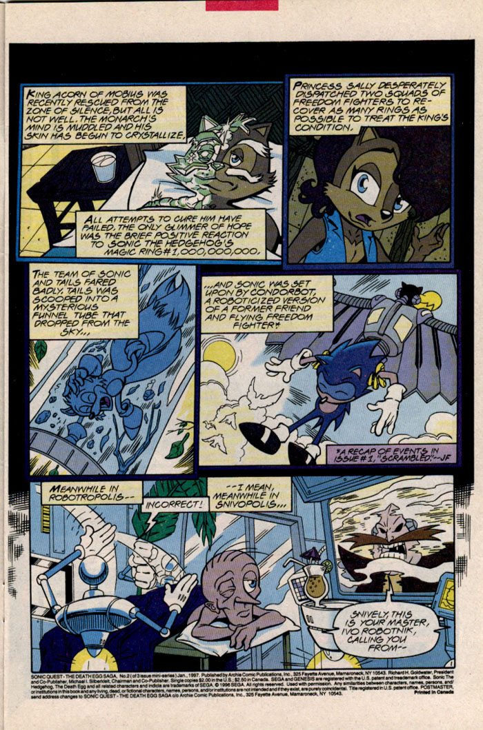 Sonic - Archie Adventure Series January 1997 Page 3