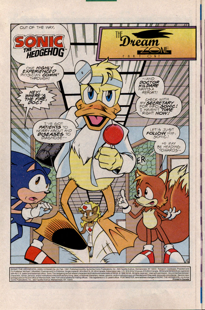 Sonic - Archie Adventure Series February 1997 Page 2