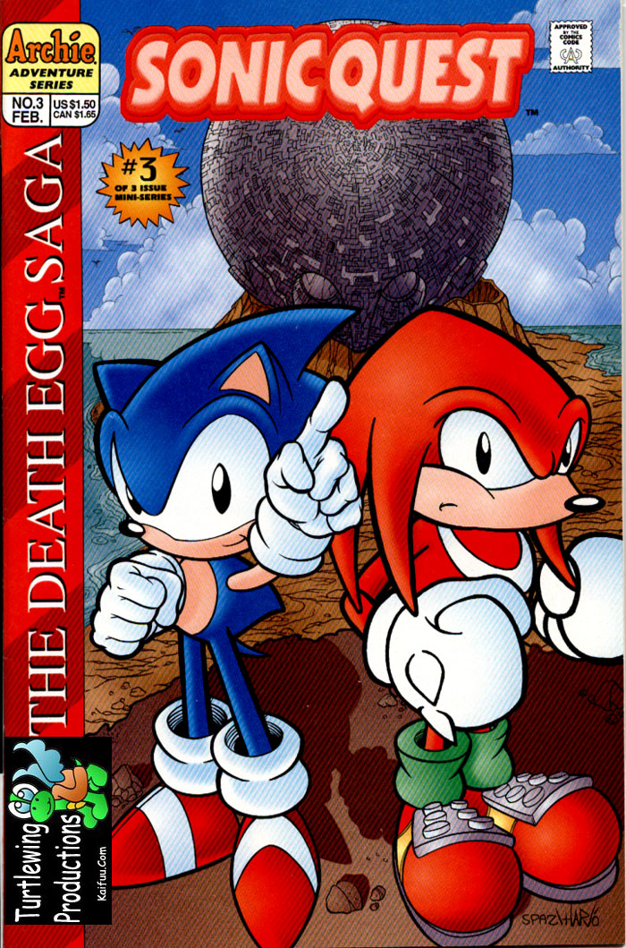 Sonic - Archie Adventure Series February 1997 Comic cover page