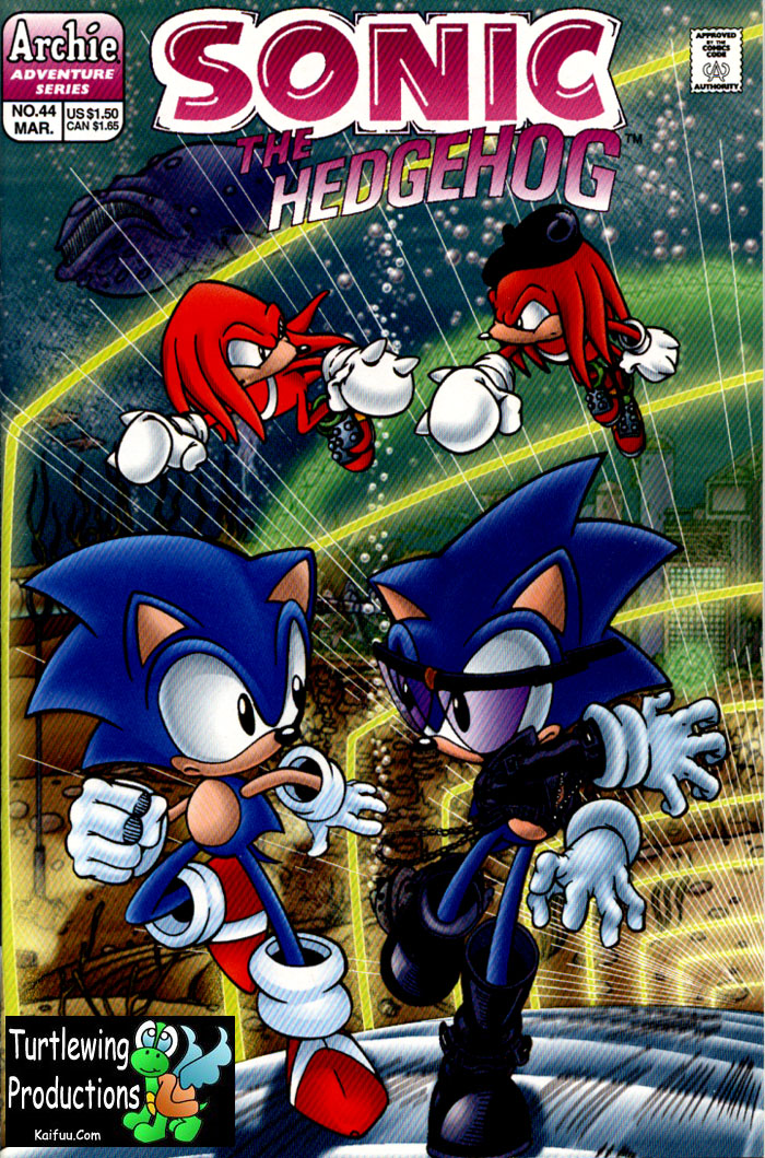 Sonic - Archie Adventure Series March 1997 Comic cover page