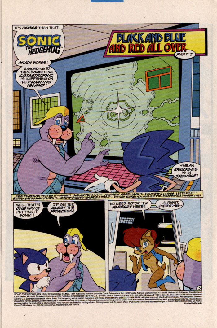 Sonic - Archie Adventure Series March 1997 Page 3