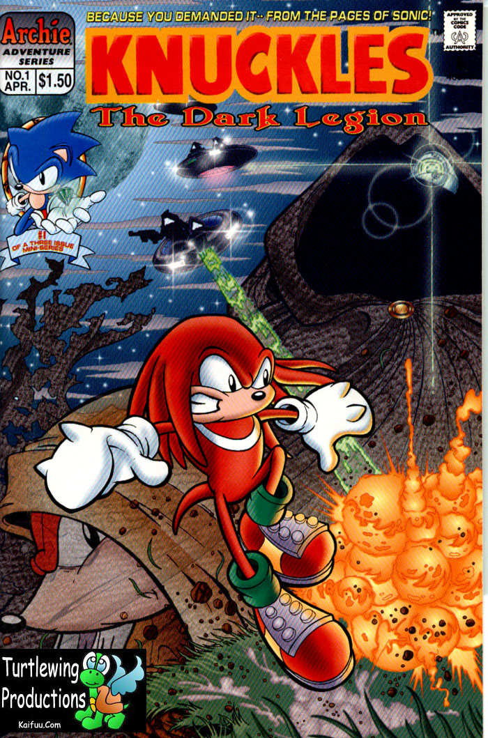 Knuckles - April 1997 Comic cover page