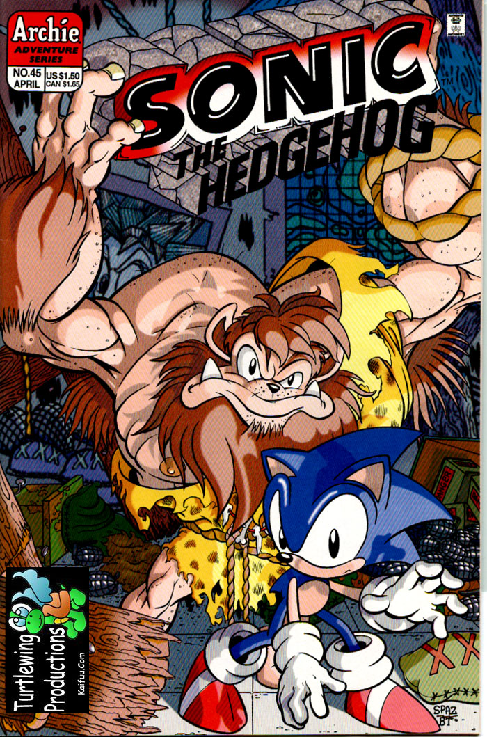 Sonic - Archie Adventure Series April 1997 Cover Page